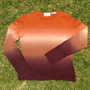 Neiman Marcus Women's Ombre 100% Cashmere Sweater